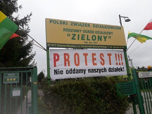 Protest - Nie oddamy naszych działek
